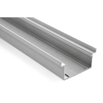 Aluminium terugliggende plint (wit) 4000 mm