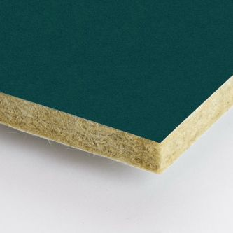 Groene Rockfon Emerald 1200x1200x25 mm inleg plafondplaten