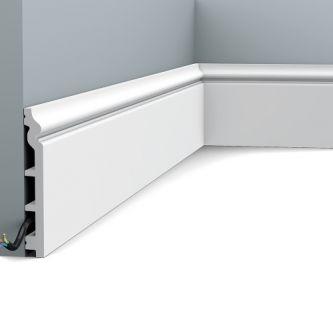 Orac SX118 RAL 9003 contour plint 200x13.8x1.8 cm
