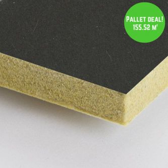 Pallet Eurocoustic Tonga Zwart 600x1200 mm inleg