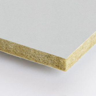 Grijze Rockfon Plaster 600x2400x25 mm inleg plafondplaten