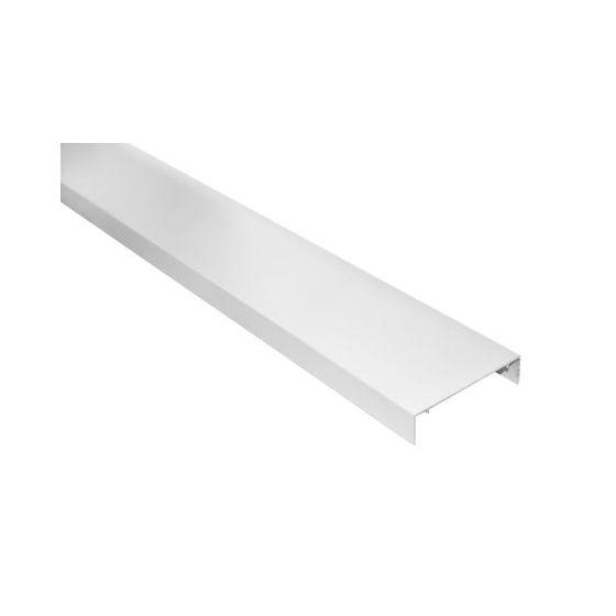 Aluminium muuraansluiter wit 3000 mm