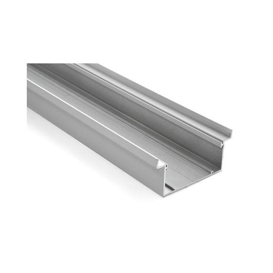 Aluminium terugliggende plint wit 4000 mm