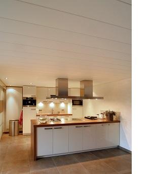 Keuken plafond Luxalon typeC225 gebroken wit