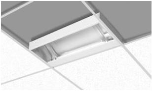 Verlichting voor systeemplafonds | afbouwmateriaal.com